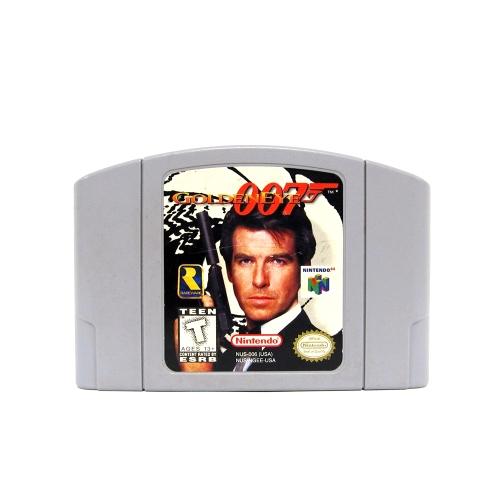 任天堂64用N64マリオスマッシュブラザーズゼルダビデオゲームカートリッジコンソールカード64ビットゲーム英語版US版(007ゴールドアイ)