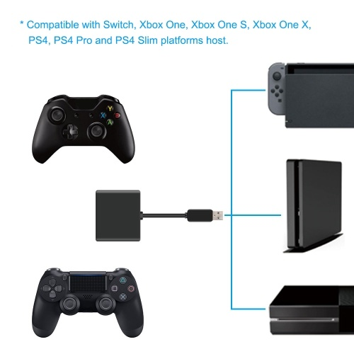 Keyboard & Mouse Adaptor Converter Compatible with PS4 Xbox One Switch PS4 Pro Mouse Controller Keyboard Adapter