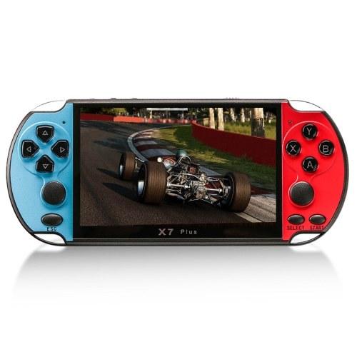 Console de videogame X7 Plus de 5,1 polegadas Jogadores de videogame portáteis Double Rocker 8GB de memória integrada 1000 Games MP5 Game Controller