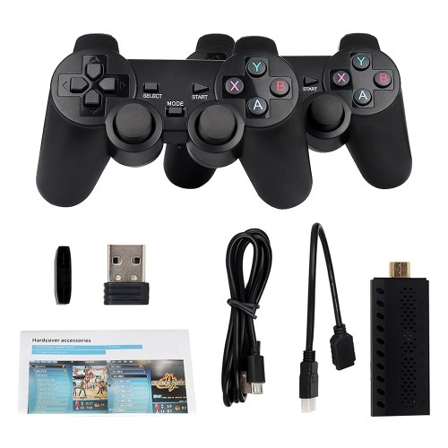 Игровая консоль Mini TV с двойным беспроводным контроллером 2,4G Встроенный 3500 Classic Games Портативная игровая консоль в стиле ретро HD-выход