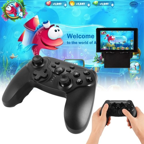 Wireless BT Gamepad Double Motor Vibration Pro Gaming Controller Joystick for Switch w/ Screenshot Function