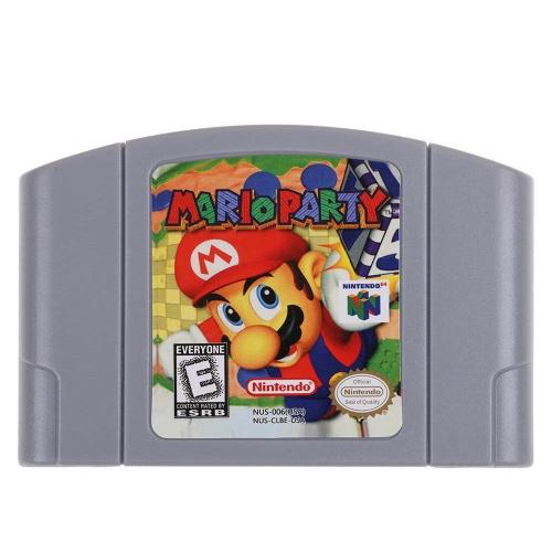 任天堂64 N64マリオスマッシュブラザーズゼルダのビデオゲームカートリッジコンソールカード64ビットゲーム英語版US版(マリオパーティー)