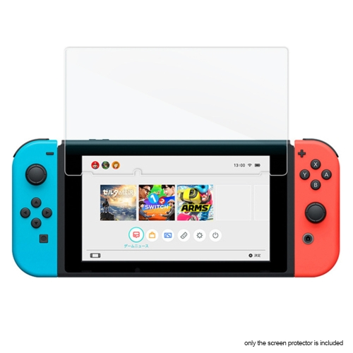 Premium Tempered Glass Screen Protector Protective Guard Film for Nintendo Switch NS NX Console Consola Controller White