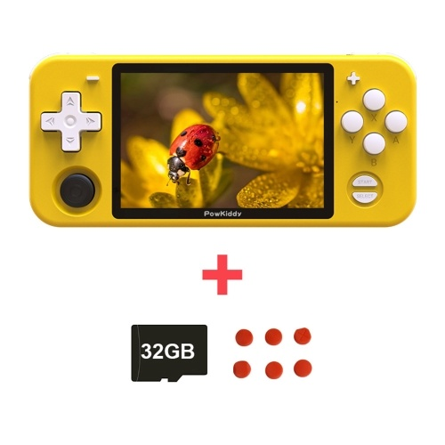 Powkiddy RGB10 Retro-Spielekonsole Handheld-Game-Player mit 32 GB TF-Karte