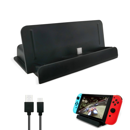 Portable Relacement Charge Dock Case for Nintendo Switch Docking Station USB Adjustable Play Stand Mount Holder Black