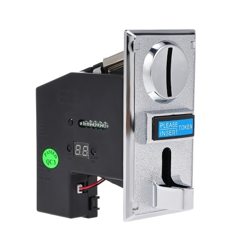 Multi Coin Acceptor Electronic Advanced Front Entry CPU Coin Selector For Vending Machines Arcade Machines Ticket Redemption