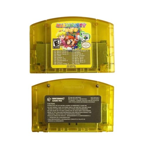 18 In 1 Game Cards Video Game Cartridge Console Card Mario Party