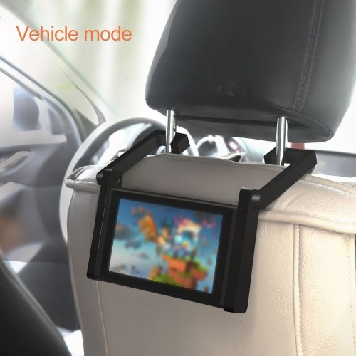 Universal Car Holder Compatible with Nintendo Switch Console in Car Mount Stand Two in One Car Bracket NS Adjustable Desktop Holder Image