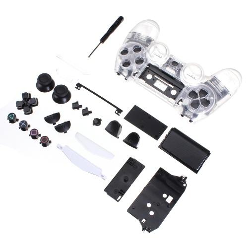 Kit de coque transparente bricolage assemblage de boîtier de boîtier de remplacement de la poignée en cristal pour contrôleur PS4 PS5