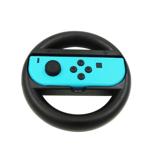 1 pz Maniglia del volante Gioco da corsa Design ergonomico antiscivolo Joy-Con Grip Custodia protettiva per Nintendo Switch Controller Nero