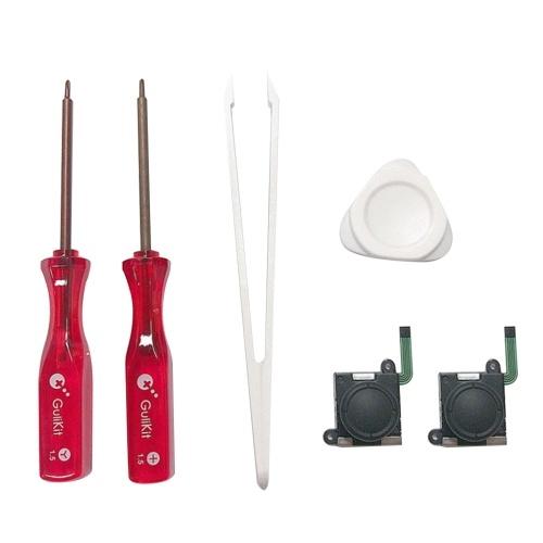 Kit d'accessoires de remplacement de réparation de joystick Compatible avec le commutateur / commutateur de contrôleur Gulikit Elves (noir)