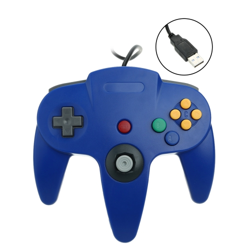 USB Wired Game Controller Gamepad Game Pad Joy Stick for Nintendo N64 PC MAC Computer
