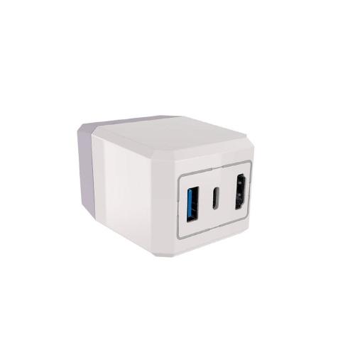 LED-Wechselstrom-Schnellladegerät-Dock-Adapter USB3.0 HD-TV-Konverter-Dock-Adapter Typ C Kompatibel mit Switch NS Console