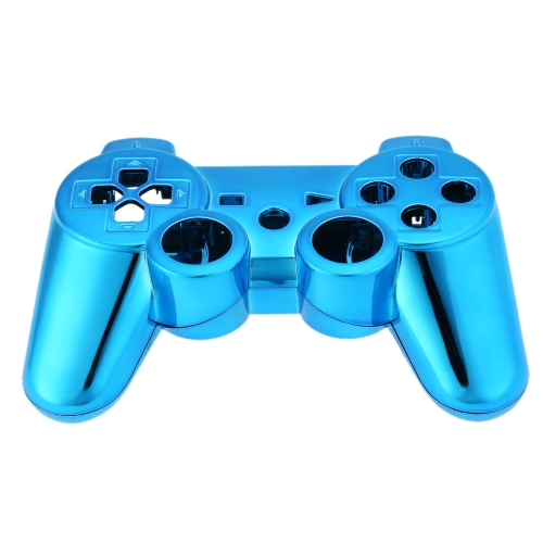 Metal-plated Full Housing Controller Shell Gamepad Shell Cover Case with Matching Buttons Blue for Xbox 360