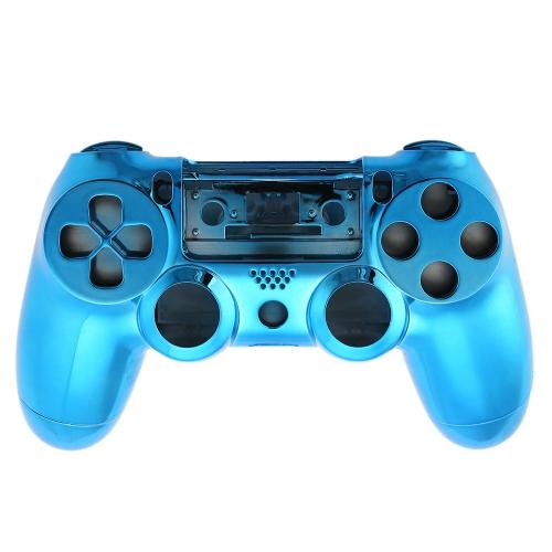 金属メッキ完全ハウジング PS4 の青ボタンを一致するゲームパッド シェル コント ローラー カバー ケース