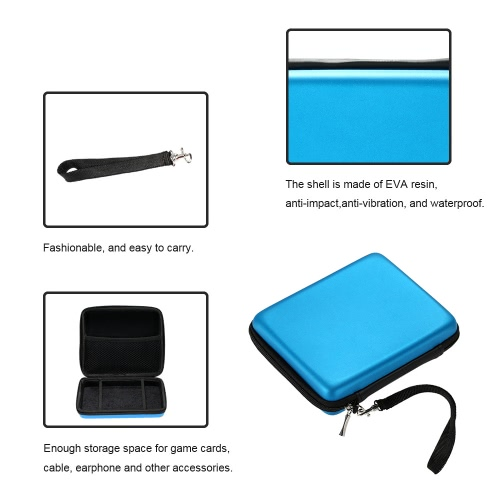 Protective Storage Case Cover Bag with Strap Black for Nintendo 2DS Console