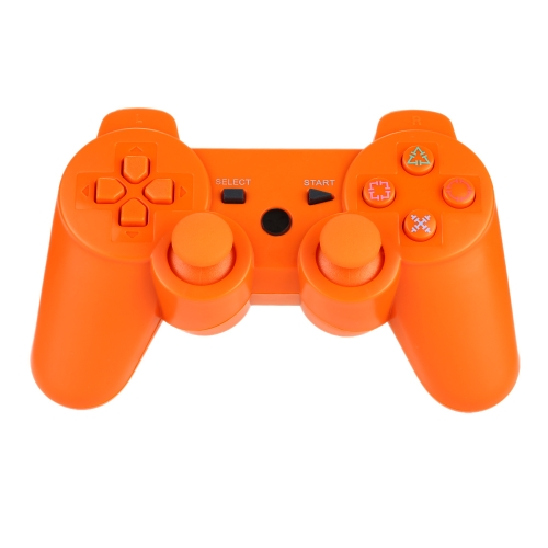 Wireless Bluetooth Game Controllor Bluetooth 4.0 Six Axis Double Vibration Gamepad Game Console Orange for PS3