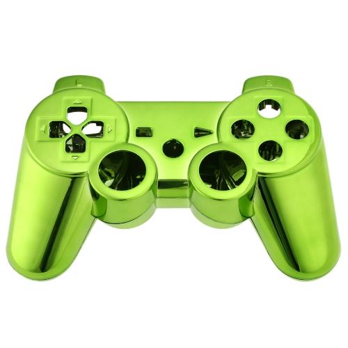 Metall verchromt Full Gehäuse Controller Shell Gamepad Shell Hülle mit passenden Tasten grün für Xbox 360