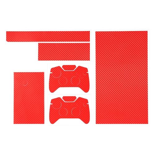 元 Citywolf 炭素繊維皮膚ステッカー カバー プロテクター レッド Xbox 1 ・ ゲーム コント ローラー