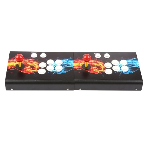 Split Design Arcade Console 3003 in 1 Arcade Games Station Machine 2 Players Control Joystick Arcade Buttons HD VGA Output USB Two Fists Pattern for PC TV Laptop Projector