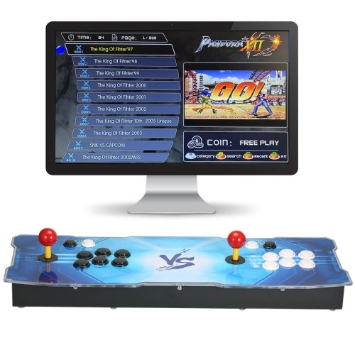Arcade Console Integrated 3188 in 1 Arcade Games Station Machine 2 Players Control Joystick Arcade Buttons HD VGA Output USB Space Pattern for PC TV Laptop Projector