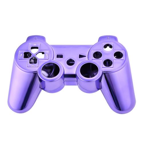 Хромированный металл полный корпус контроллера оболочки Gamepad крышку чехла с соответствующими кнопками Puple для Xbox 360
