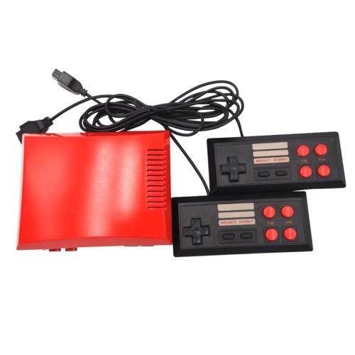 NEUE Mini-Videospielkonsole Zwei Tasten-TV-Handheld-Gaming mit 2 Controllern für Nes 620 Eingebaute klassische Spiele EU-Stecker