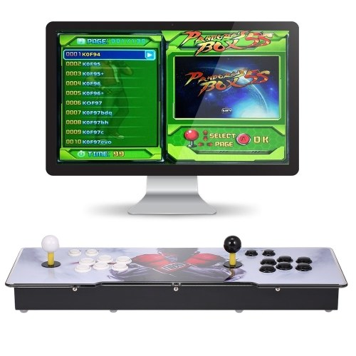 PANDORA 5S 1299 in 1 Arcade Console Game Box EU Plug