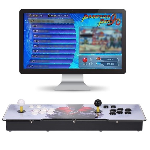 9D Arcade Console 2700 in 1 Arcade Games Station Machine 2 Players Control Joystick Arcade Buttons HD VGA Output USB for PC TV Laptop Projector