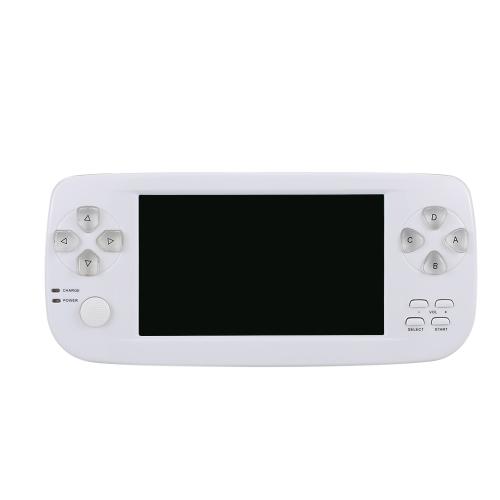 PAP KIII 4.3in Portable Handheld-Spielkonsole Videospiel eingebaut in 652 Spiele mit Kamera für Kinder Professional Game-Spieler Geschenk weiß