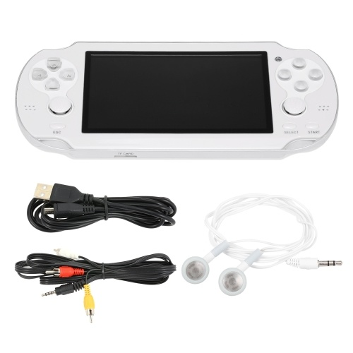 V8 Multifunctional Handheld Game Players 8GB Built-in 400 Games Game Console Double Rocker 4.3