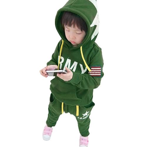 Niños lindo juego carta cinco estrellas imprimir ropa niños niños deportes juegos azul oscuro verde/gris oscuro