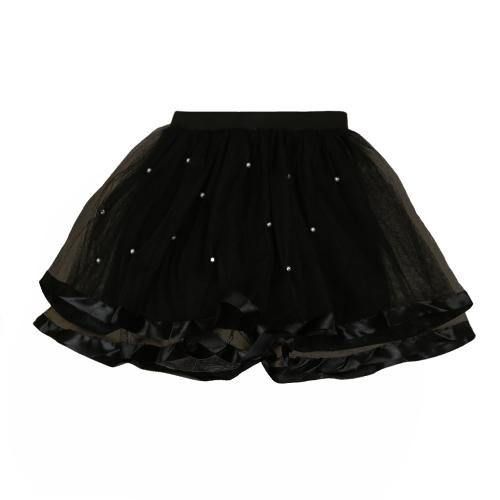Moda niñas niños niveles falda de tul malla perlas faldas Color sólido niños lindo dulce princesa Tutu red hilo