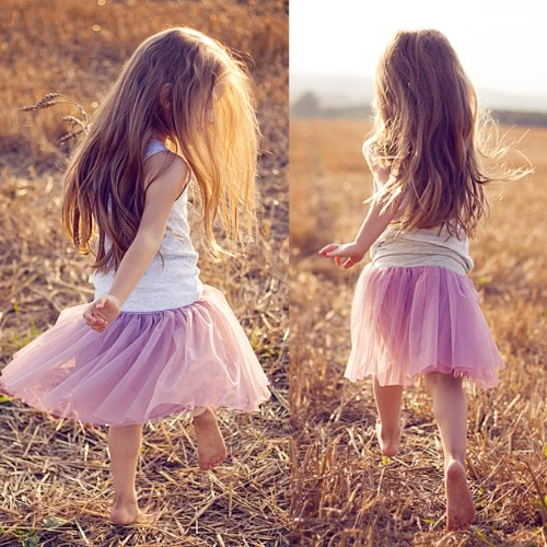 Mode Kinder Baby Mädchen Zweiteiliges Set Solid Weste ärmelloses T-Shirt Lace Mesh Tüll Tutu Bubble Skirt Outfits lila