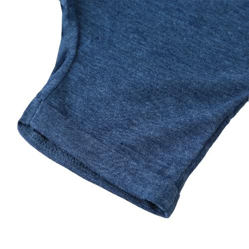 Мода малышей детские мальчик двухсекционный набор короткие печатных футболку, обрезанные брюки Брюки подростковые наряды дети костюмы синий