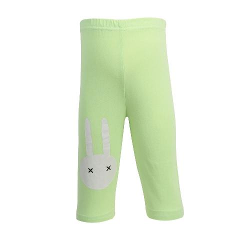 Meninas miúdos Leggings impressão Elastic Cor cintura doces bonito Crianças Calças Calças