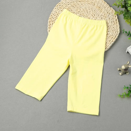 Girls Kids Leggings Print Elastic Waist Candy Color Cute Children Pants Trousers G5269Y130