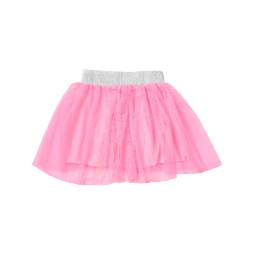 New Fashion Kids Girls TuTu Skirt Elastic Waist Solid Color Tulle Mesh Cute Bubble Skirt