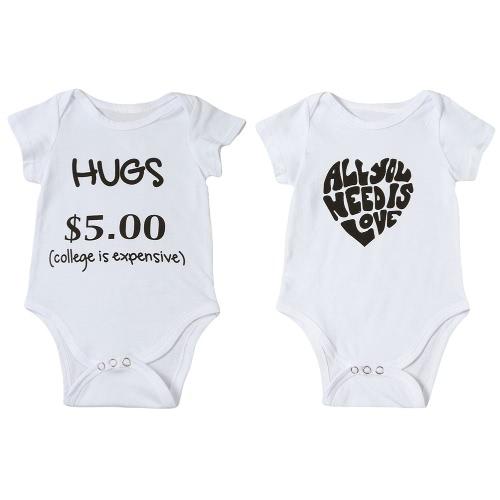 Nouveau Infant Mode Bébé Garçon Fille Bodysuit Lettre Imprimer