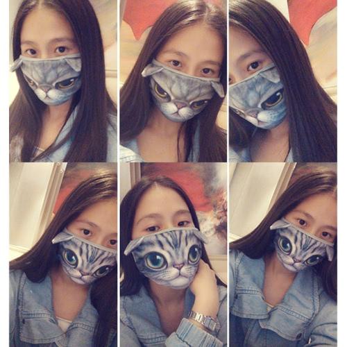 Neue Art und Weise Unisex-Mund-Maske 3D-Tier-Gesichter Karikatur-Druck Anti-Staub-Branche Heil Kreative Muffle