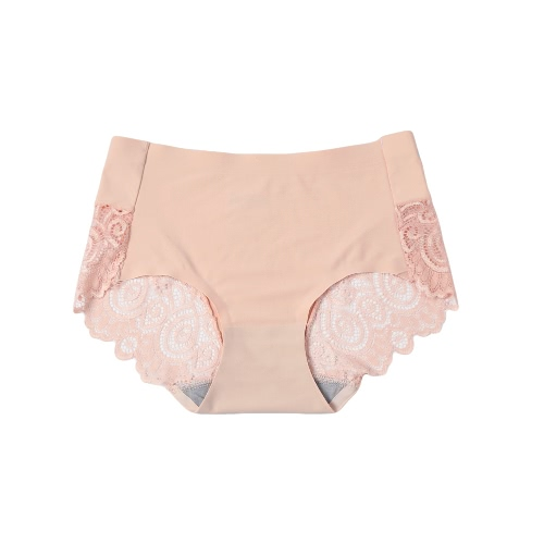 Mulheres Lace Panties Briefs ultra-fino Seamless Unerpants Roupa interior respirável Sólidos Sexy