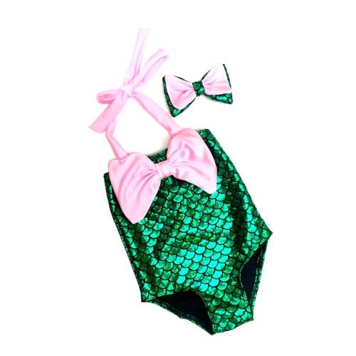 Traje de baño y Hairband Niñas Traje de baño de bikini sirena Traje de baño traje de baño Niño Traje de baño Niñas