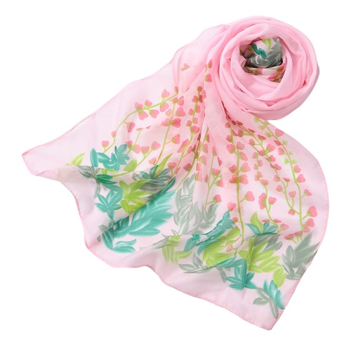 Neue Art und Weise Frauen-Chiffon- Schaldruck Lange Schal Pashmina Strand-elegante dünne Schal