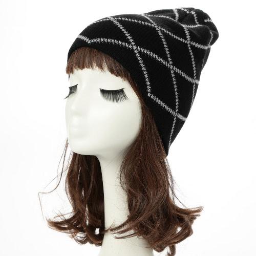 Frauen Männer Beanie Strickmütze Herbst-Winter-Unisex-warme Kappe Schlapphut Skullies Bonnet Lässige Kopfbedeckung