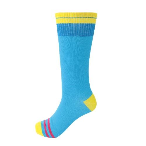 Moda Mulheres Homens meias de algodão listrado Contraste Letra engraçada impressão Inverno suave e quente meias meias