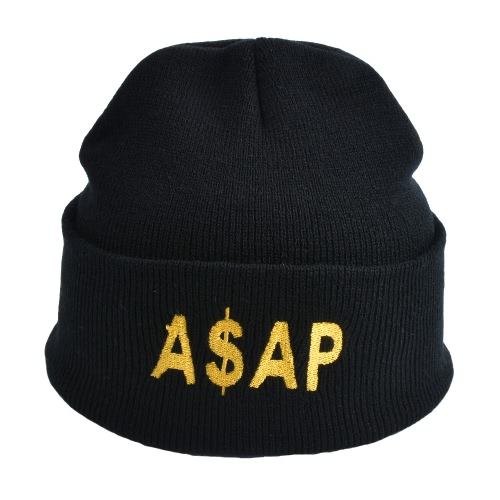 Unisex Men Women Beanies Knitted Hat ASAP Letter Skullies Baggy Hip Pop Winter Bonnet Caps