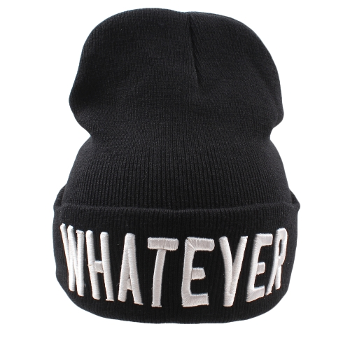 Unisex Men Women Beanies Chapéu de malha Letra Cute Pattern Bordado Skullies Baggy Warm Winter Bonnet Caps