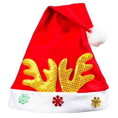 Sombrero de la Navidad de los niños adultos Sombrero de Papá Noel Antler Snowflake Fiesta de la familia Cap Holiday Adornos de decoración