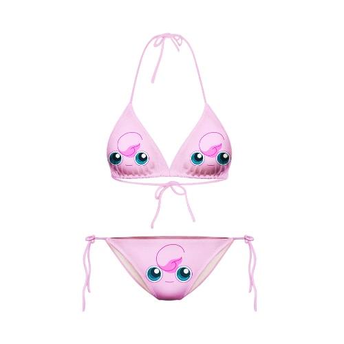 Sexy Starry Night Galaxy Wydrukuj Halterneck Two Piece Swimwear Stroje kąpielowe Bikini