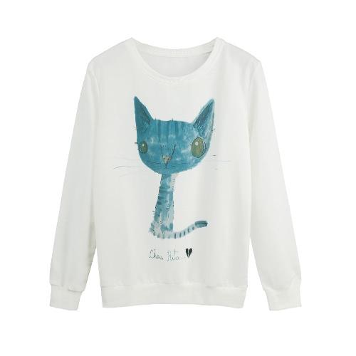 New Fashion Women Hoody Sweatshirt Print Long Sleeve T-Shirt Casual Loose Pullover Hoodie Blouse Tops